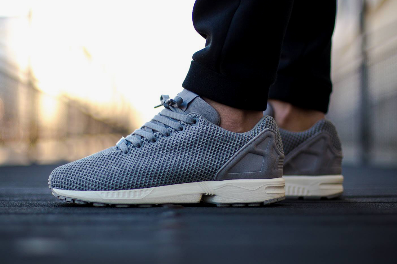 adidas zx flux solid grey white hypebeast. Black Bedroom Furniture Sets. Home Design Ideas