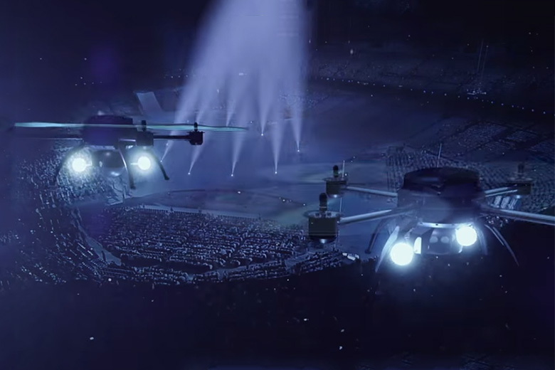 Air 2015 the world 39 s first drone circus by royal for Garcons restaurant singapore