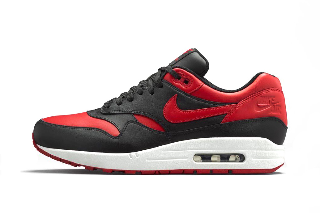 nike air max 1 premium black white varsity red hypebeast. Black Bedroom Furniture Sets. Home Design Ideas