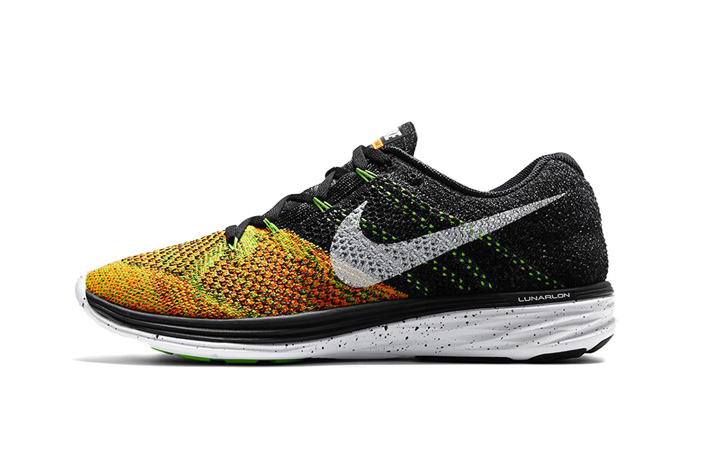 nike flyknit lunar 3 black electric green hypebeast. Black Bedroom Furniture Sets. Home Design Ideas
