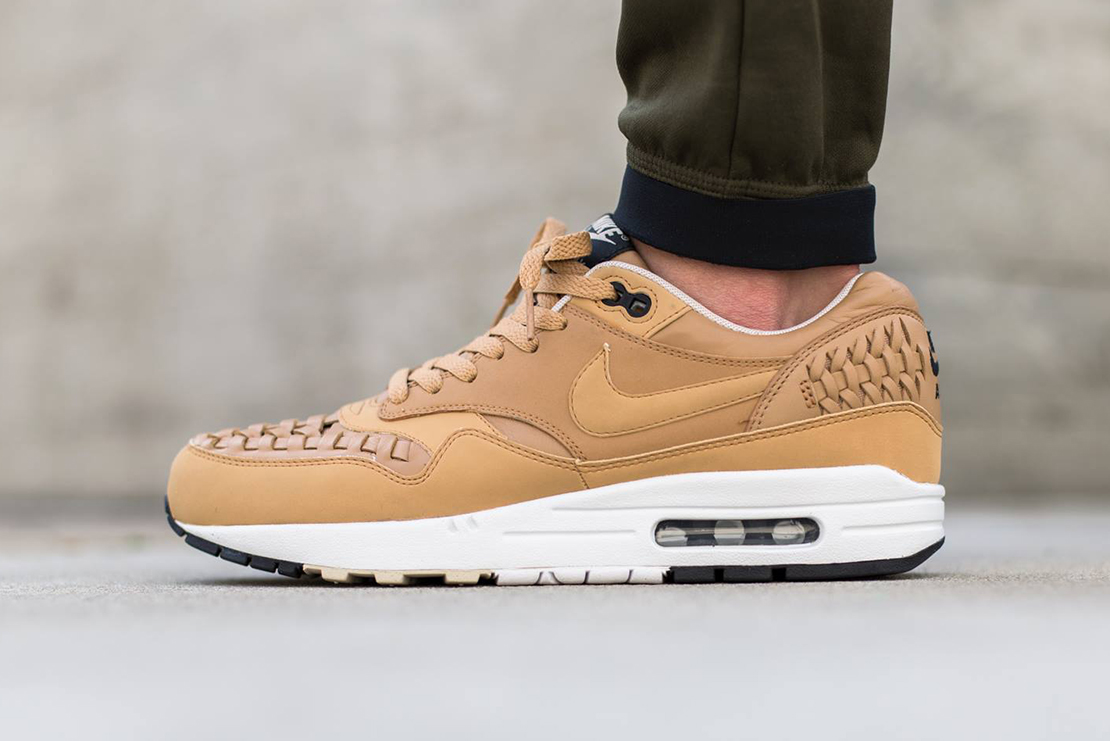 nike air max 1 woven pale shale hypebeast. Black Bedroom Furniture Sets. Home Design Ideas