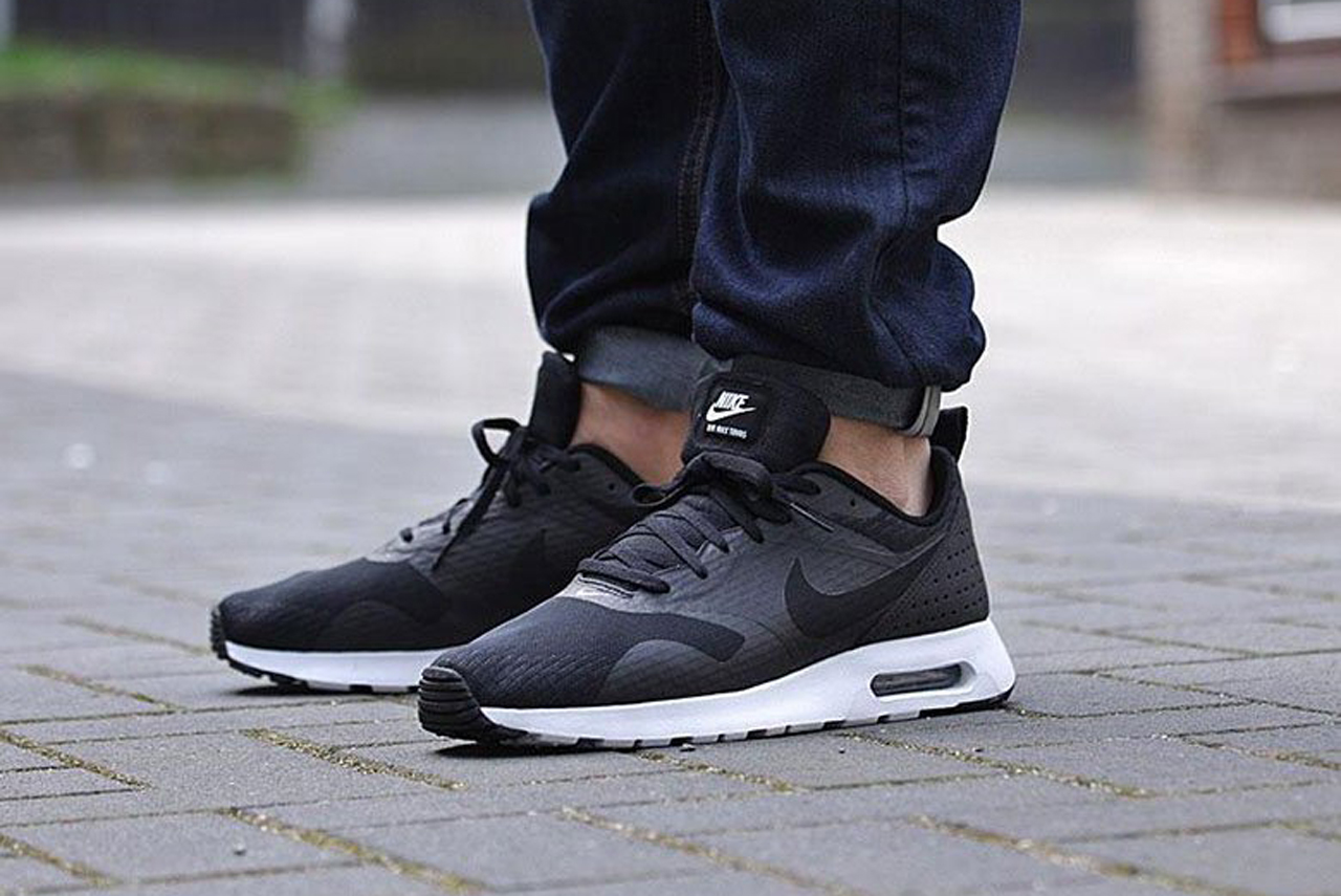 nike air max tavas black black anthracite mens