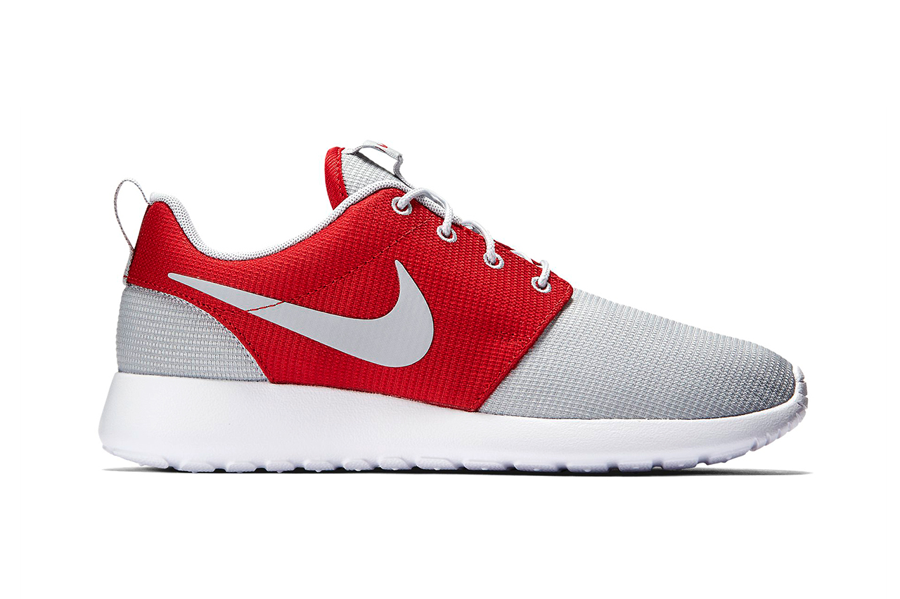 Nike Roshe One Wolf Grey Gym Red Hypebeast