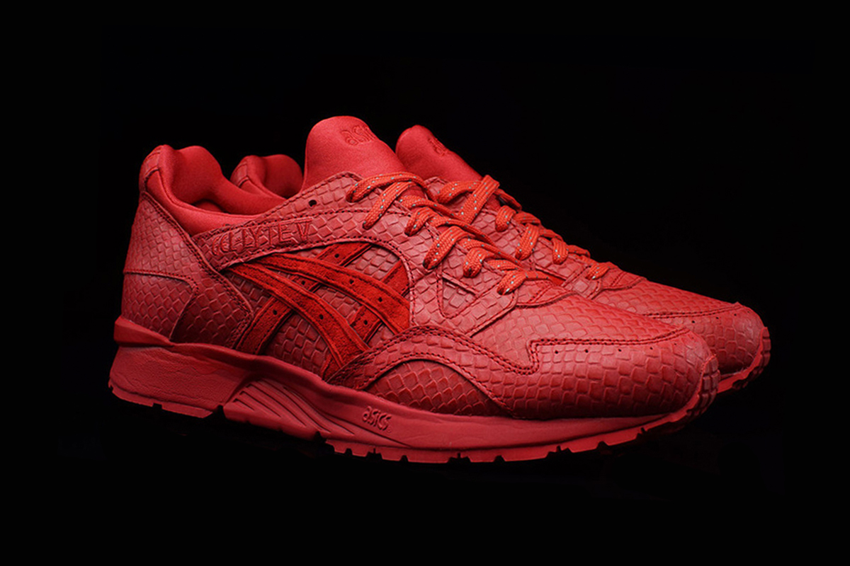 asics gel lyte v red reptile hypebeast. Black Bedroom Furniture Sets. Home Design Ideas