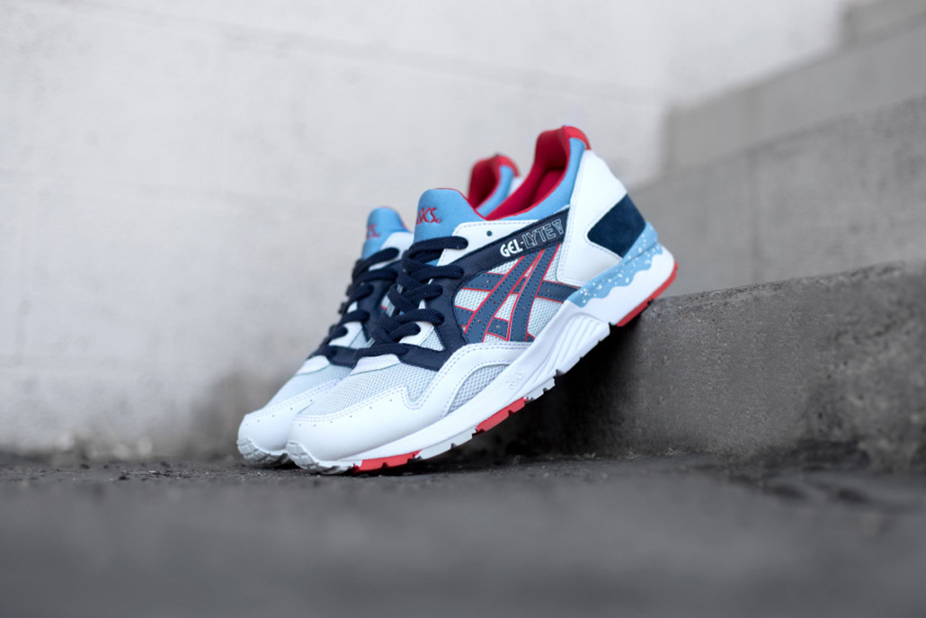 asics gel lyte v soft gray navy hypebeast. Black Bedroom Furniture Sets. Home Design Ideas
