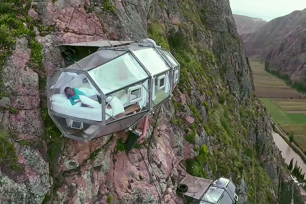 Check Out The Transparent Sleep Capsules 400 Feet Above