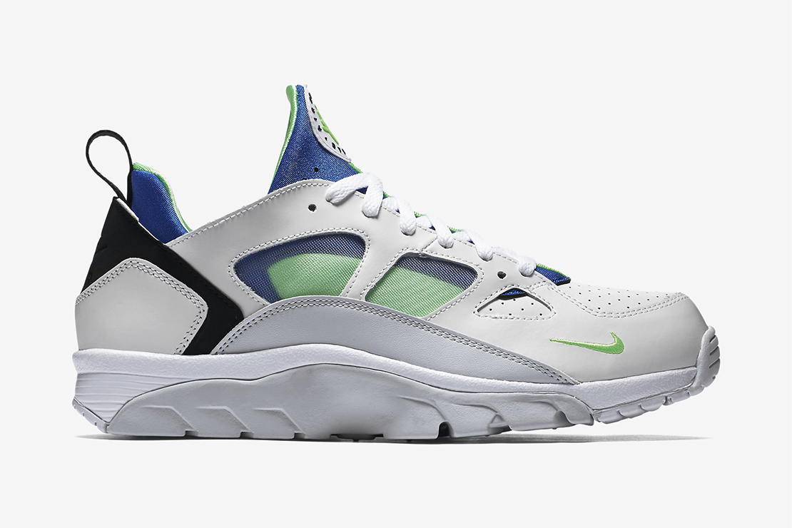 nike air trainer huarache low scream green hypebeast. Black Bedroom Furniture Sets. Home Design Ideas