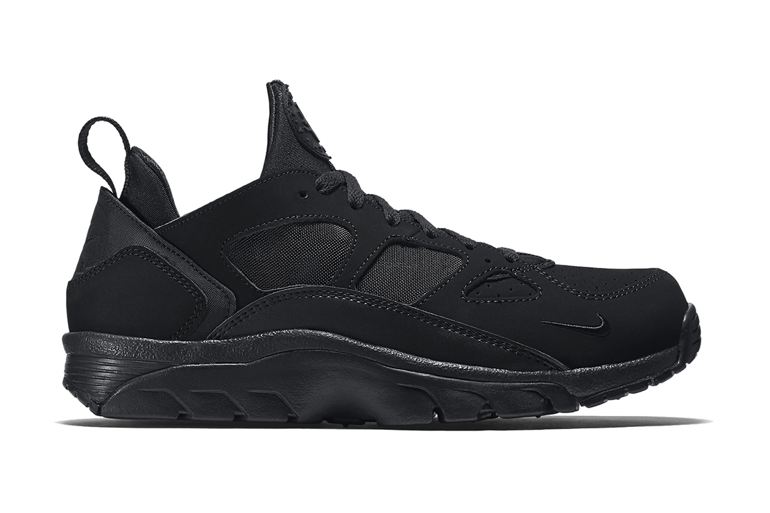 nike air trainer huarache low triple black hypebeast. Black Bedroom Furniture Sets. Home Design Ideas