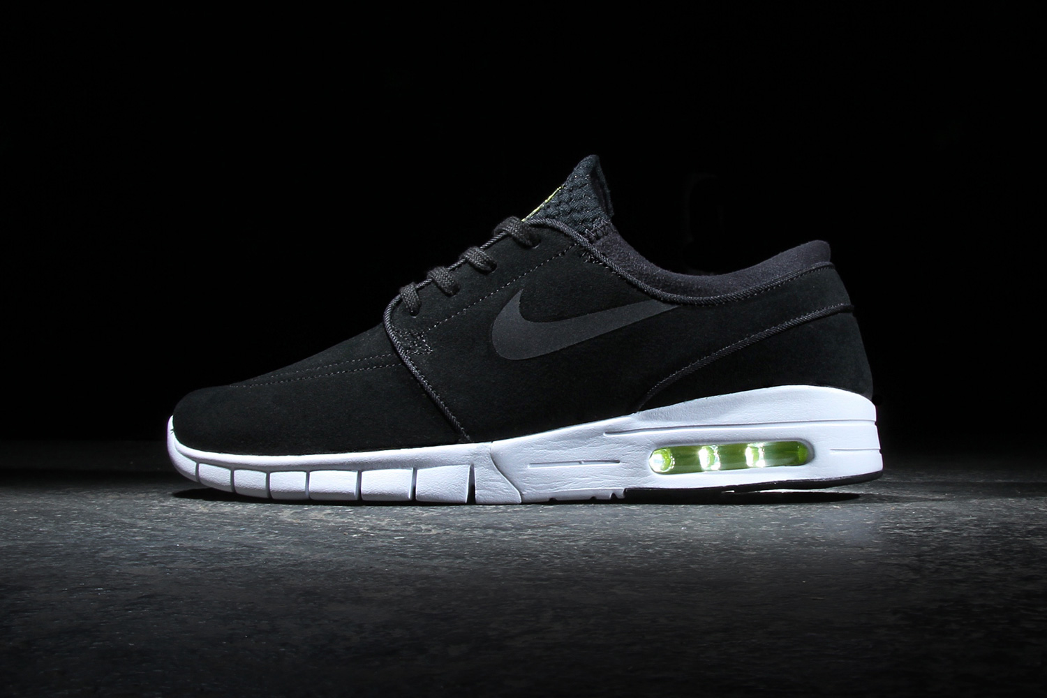 nike sb stefan janoski max leather black cyber white hypebeast. Black Bedroom Furniture Sets. Home Design Ideas