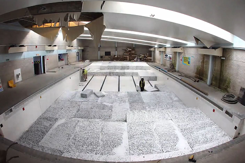 Watch A Swimming Pool Turn Into A Skate Park In This Two