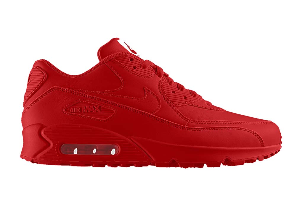 NIKEiD All-Red Air Max Sneakers | HYPEBEAST