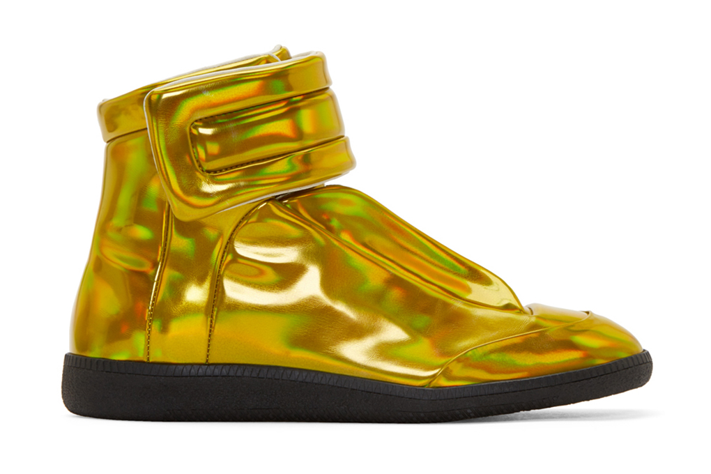 maison margiela future high top gold iridescent hypebeast. Black Bedroom Furniture Sets. Home Design Ideas