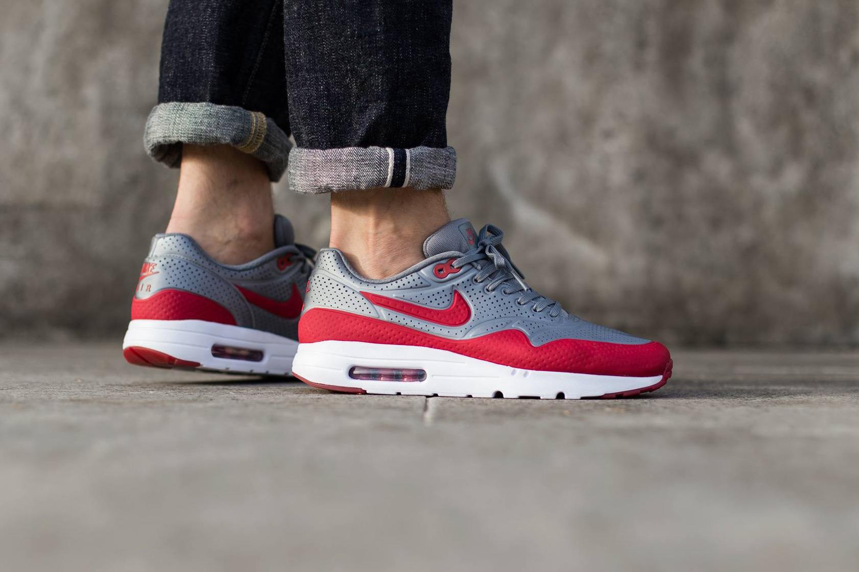 nike air max 1 ultra moire cool grey gym red hypebeast. Black Bedroom Furniture Sets. Home Design Ideas