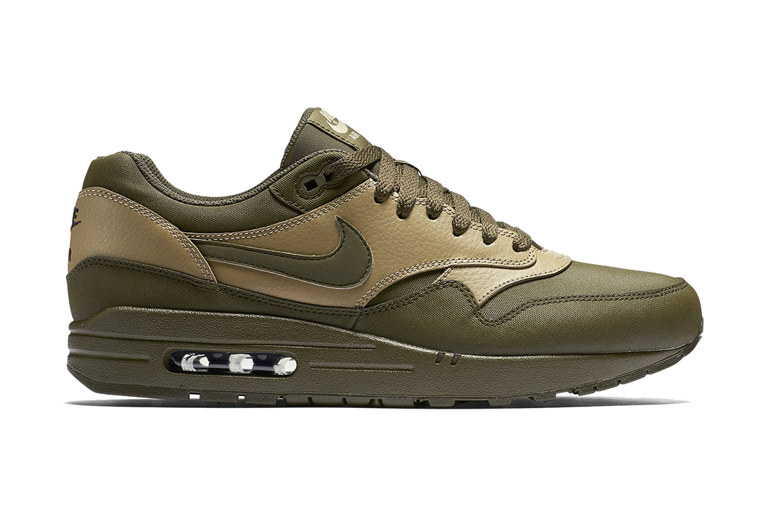 nike air max 1 leather premium dark loden hypebeast. Black Bedroom Furniture Sets. Home Design Ideas