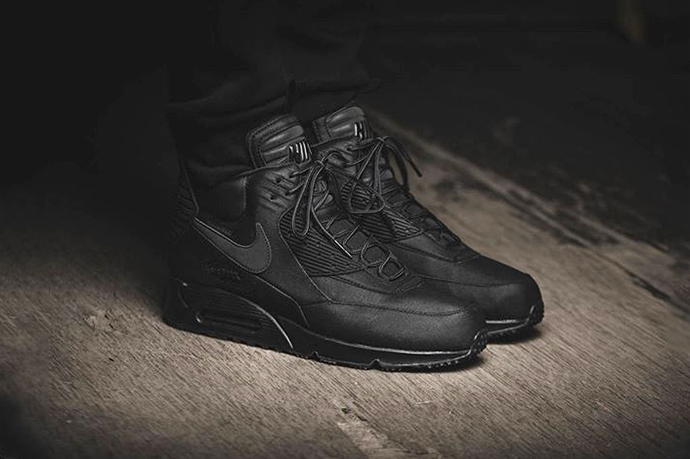 nike air max 90 mid winter black