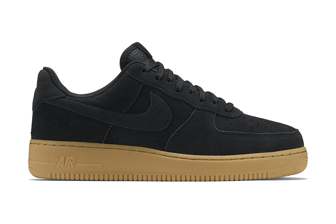 nike air force 1 low black gum hypebeast