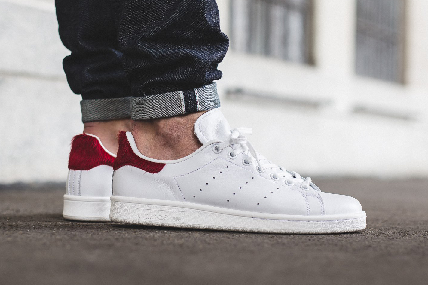 adidas originals stan smith vintage white red pony hair hypebeast. Black Bedroom Furniture Sets. Home Design Ideas