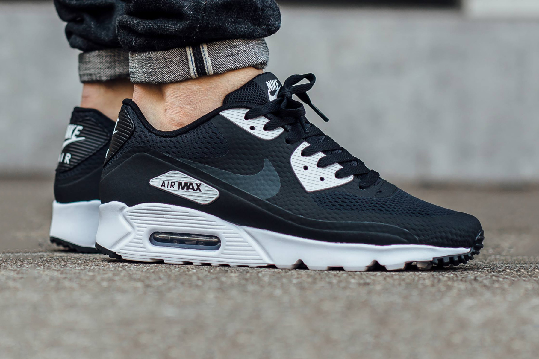 nike air max 90 ultra essential black white hypebeast