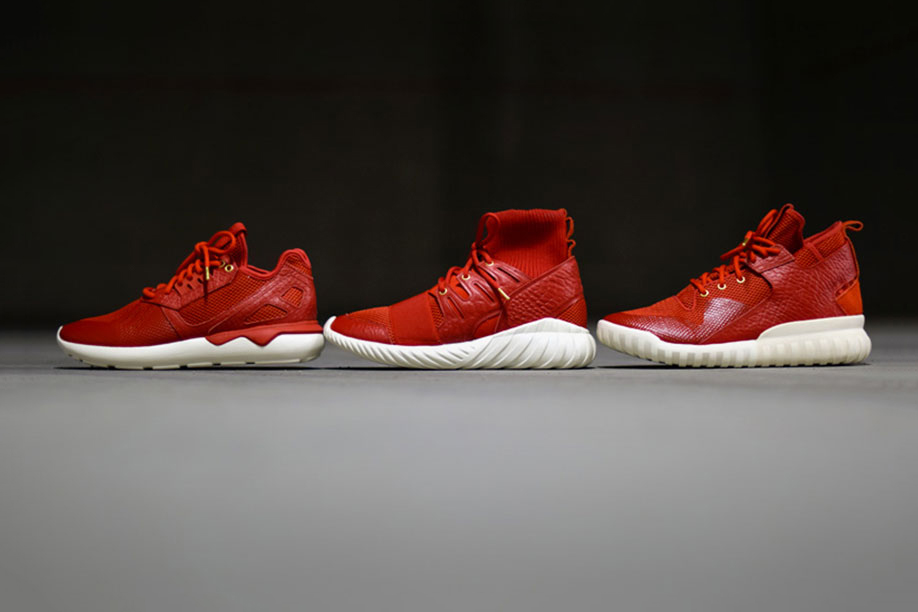 adidas tubular radial red black