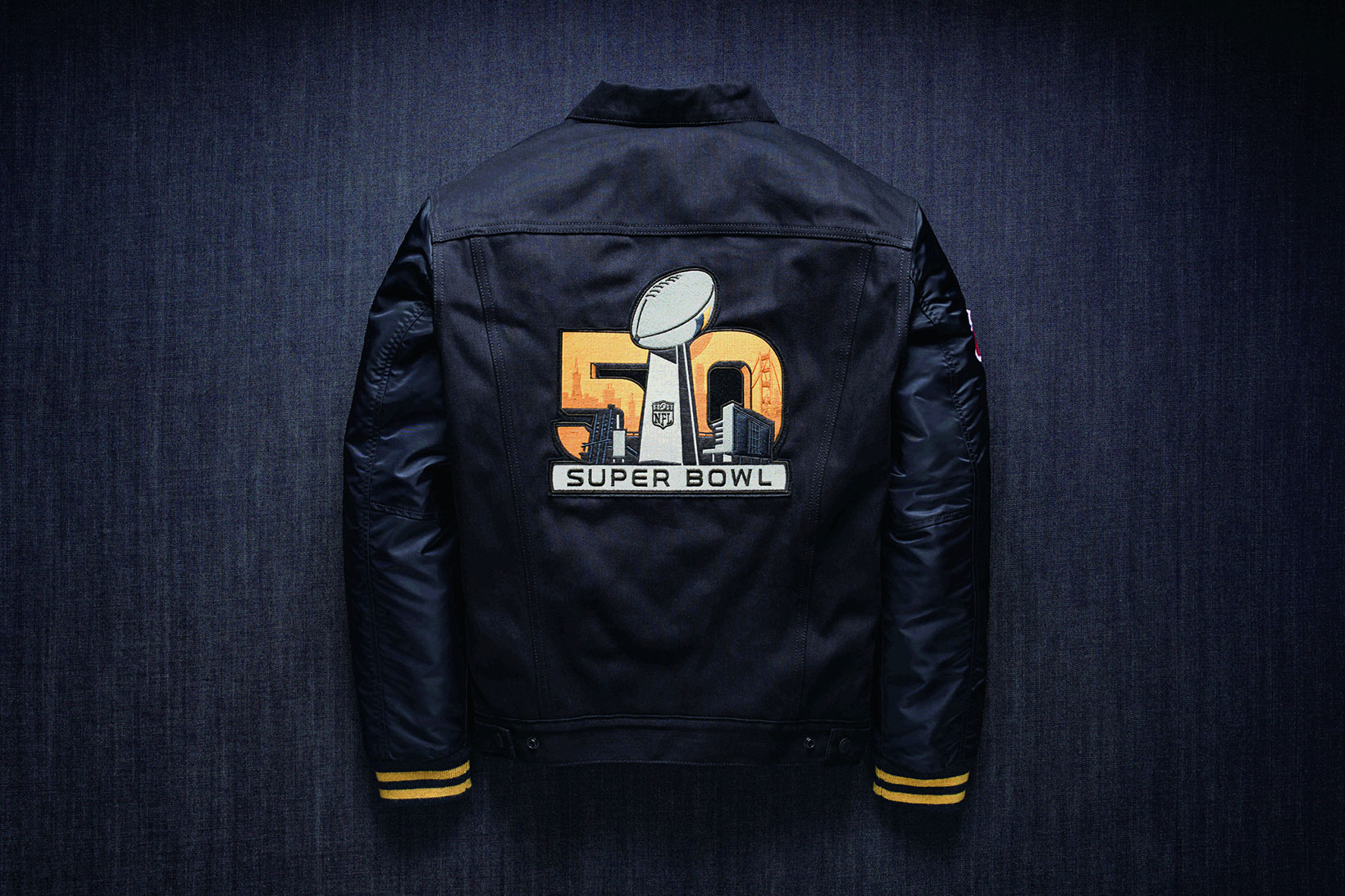 super bowl 50 and levi 39 s collaborate on apparel collection. Black Bedroom Furniture Sets. Home Design Ideas