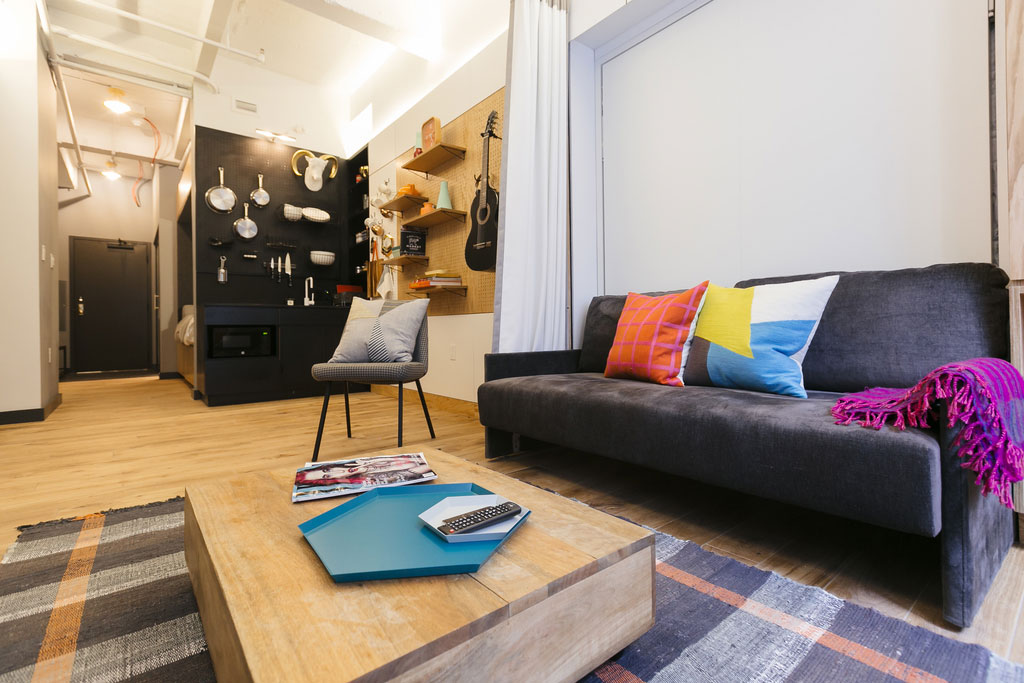 Wework introduces welive co living space hypebeast - Small office space nyc concept ...