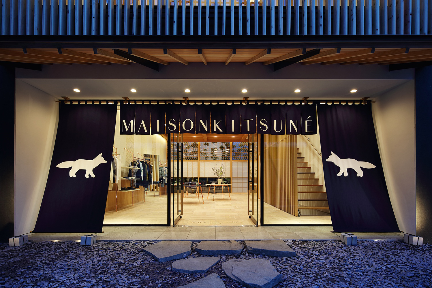 Maison kitsun opens boutique in daikanyama hypebeast for Boutique decoration maison