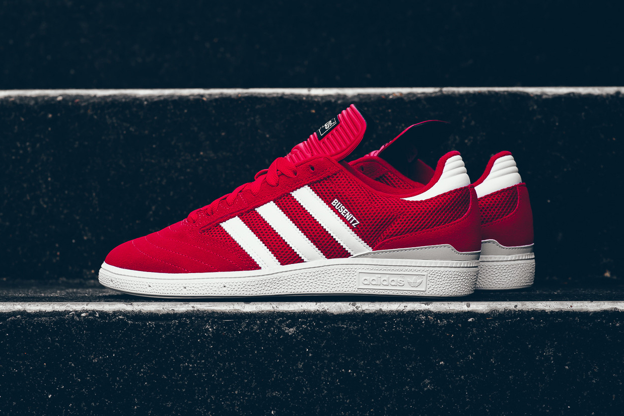 adidas busenitz red and white