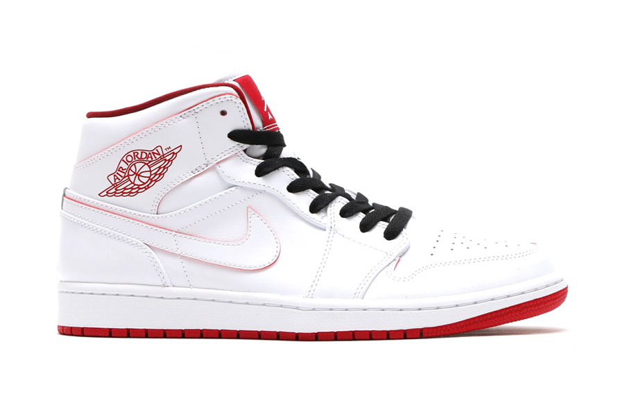red and white air jordans