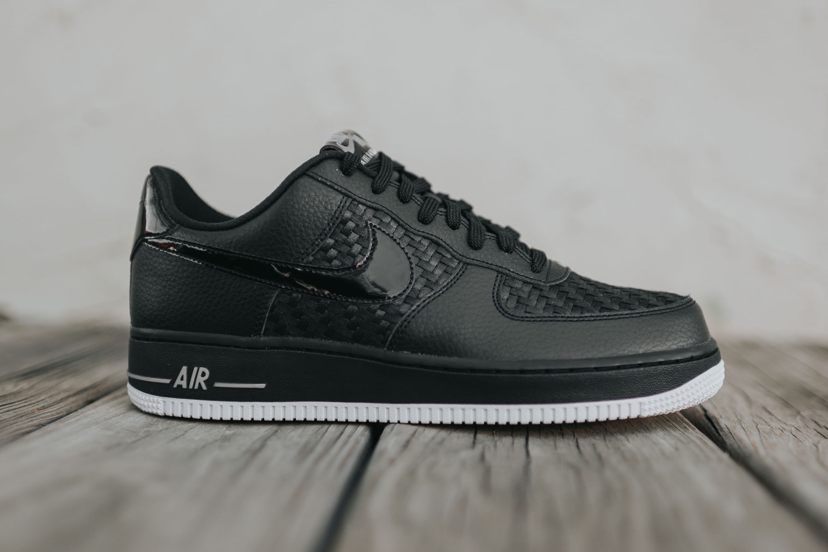 nike air force 1 low 07 lv8 black woven sneaker hypebeast. Black Bedroom Furniture Sets. Home Design Ideas