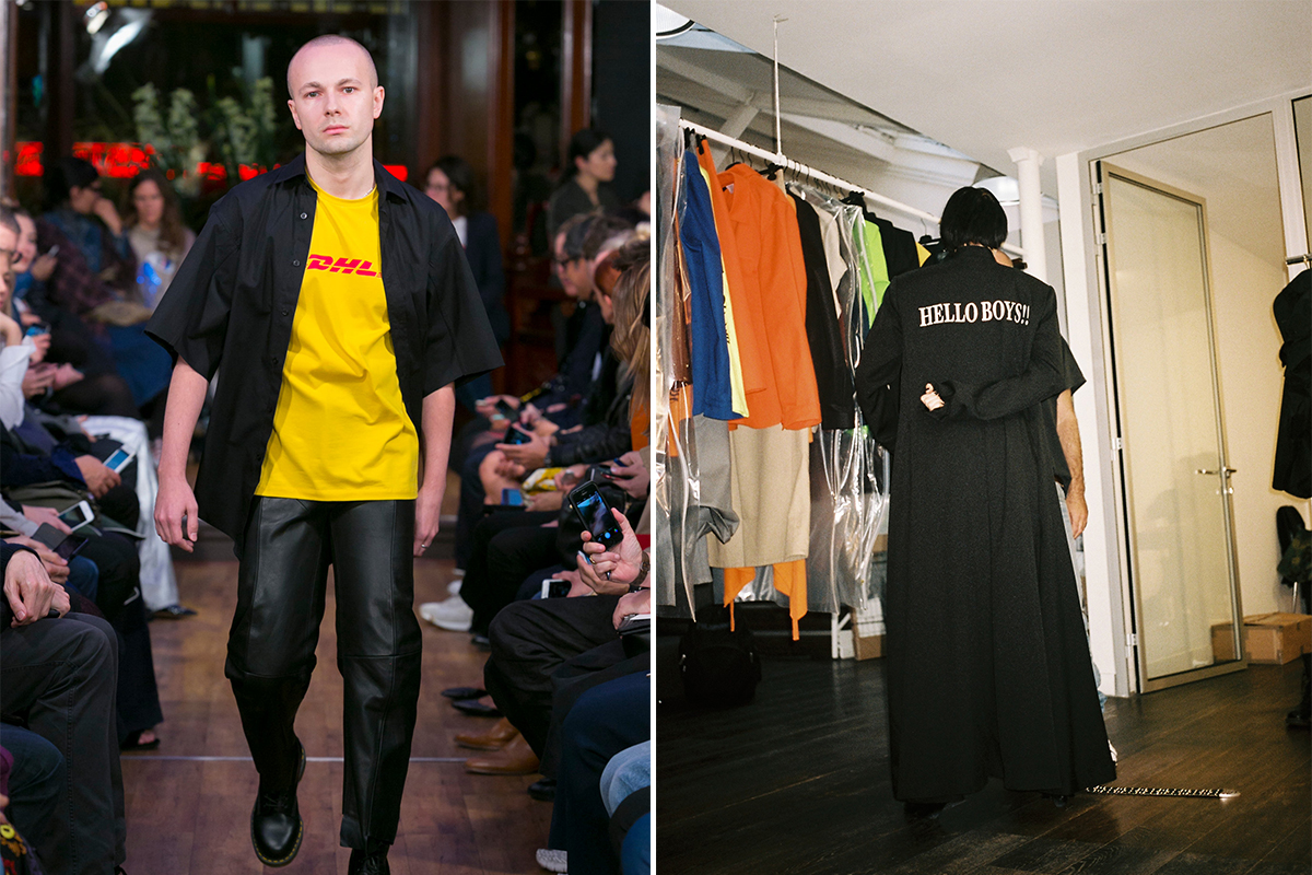 Vetements – French for 'clothes' – is a Parisian label that operates as a design collective. Georgian Demna Gvasalia is the label's head designer, while his brother Guram is CEO.