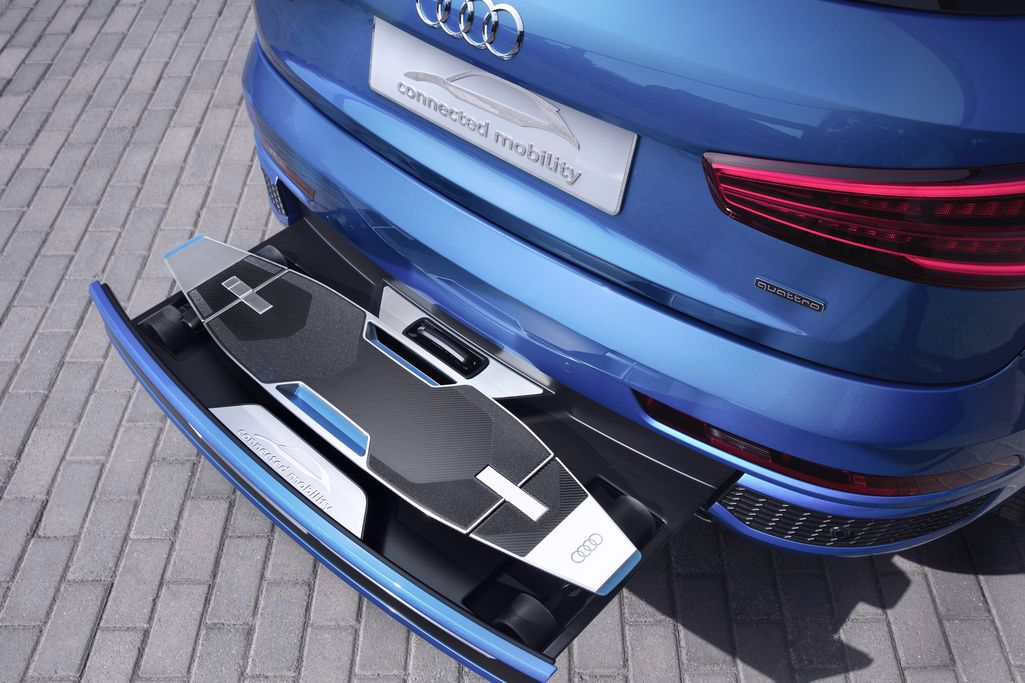 Scooter Ramps For Cars >> Audi Packed an Electric, Autonomous Longboard Into the ...