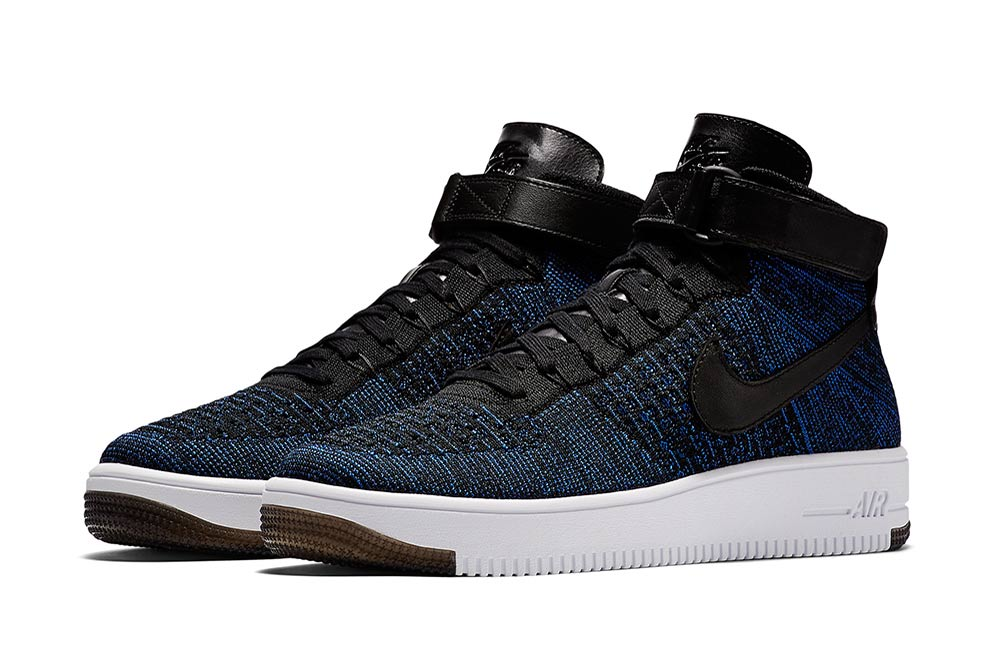 nike air force 1 mid flyknit game royal hypebeast. Black Bedroom Furniture Sets. Home Design Ideas