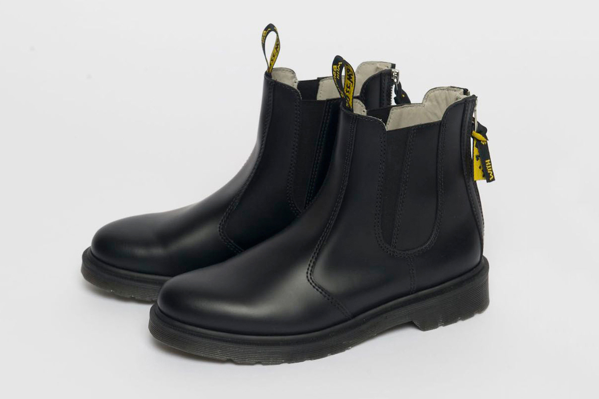 yohji yamamoto puts his spin on the dr martens chelsea boot hypebeast. Black Bedroom Furniture Sets. Home Design Ideas