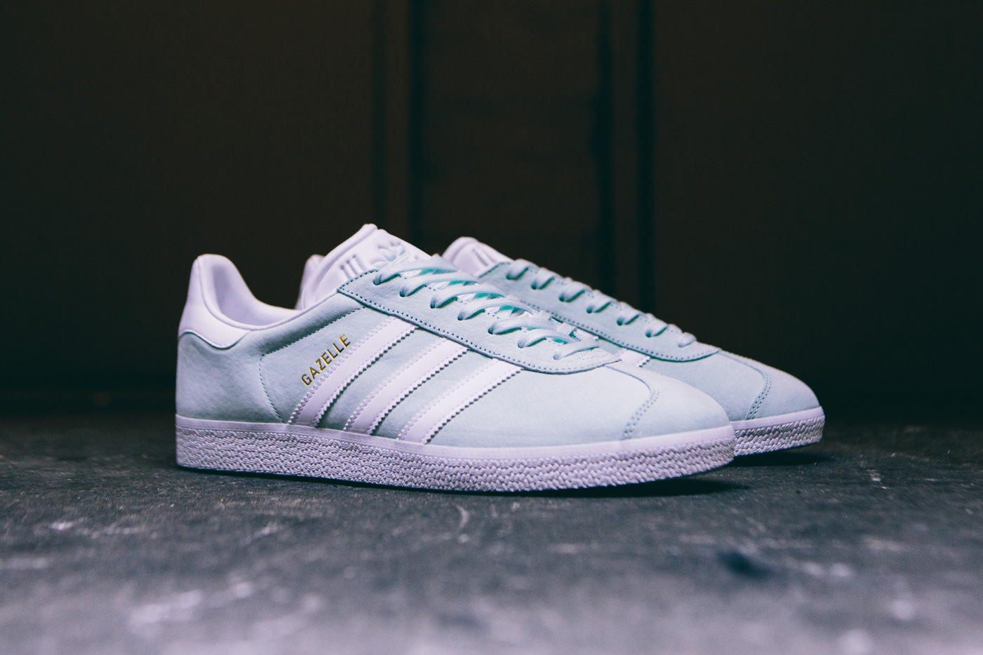adidas gazelle icy mint hypebeast. Black Bedroom Furniture Sets. Home Design Ideas