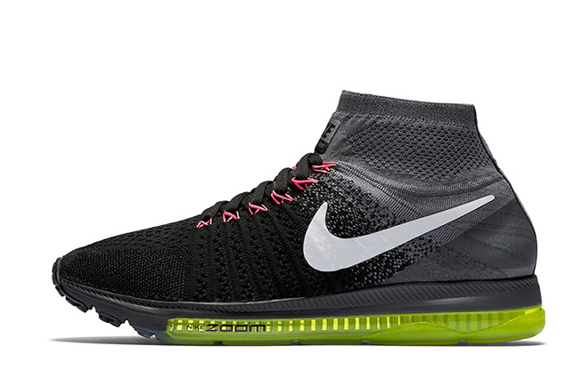 nike zoom all out flyknit in black volt hypebeast. Black Bedroom Furniture Sets. Home Design Ideas