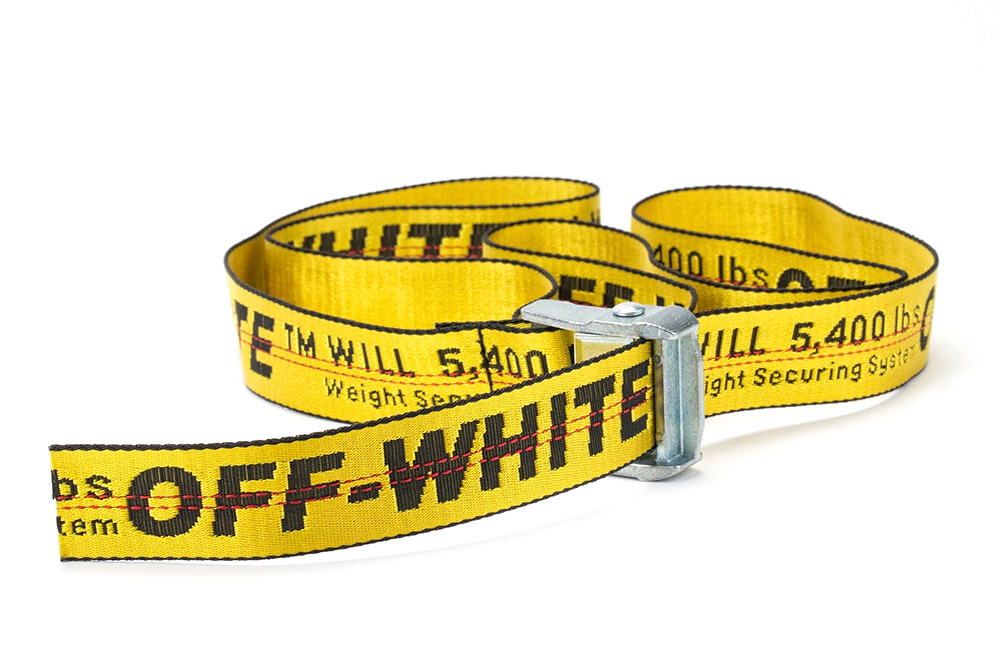 Off white yellow industrial belt hypebeast