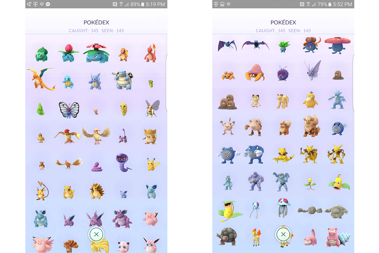 Robert Wallace Catches All 145 Pokemon Go