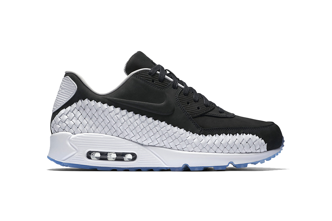 nike air max 90 woven in black white hypebeast. Black Bedroom Furniture Sets. Home Design Ideas