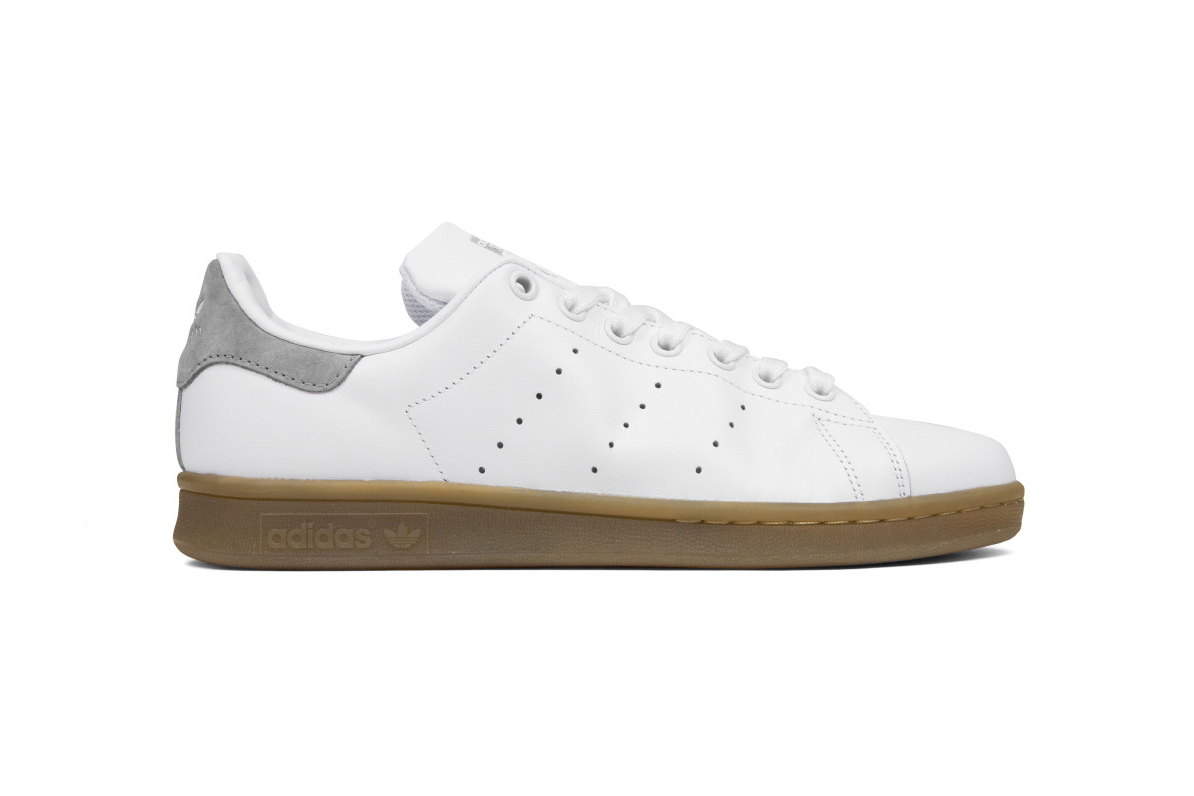 adidas originals stan smith gum sole in solid grey craft orange hypebeast. Black Bedroom Furniture Sets. Home Design Ideas