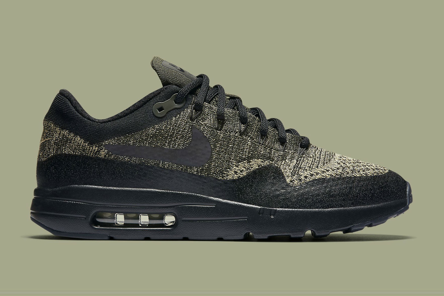 nike air max 1 ultra flyknit olive sneaker hypebeast. Black Bedroom Furniture Sets. Home Design Ideas