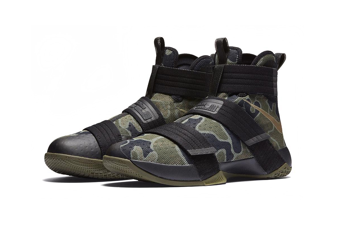 Nike LeBron Soldier 10 Olive Camo | HYPEBEAST
