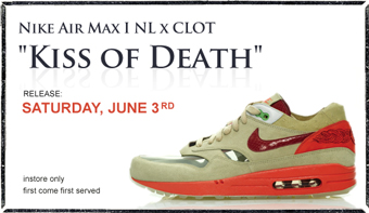 Tier 0 accounts including Alife Rivington Club, NORTRecon and a few others  2006 - Clot x Nike Air Max 1 NL Kiss of Death - tupscnvlt ...