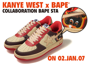 971c20566c8 You might have seen a couple of Bape Stas that designed for the rapper Kanye  West. Word is that Bape is actually releasing them to the public soon.