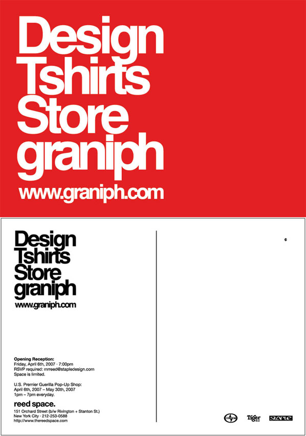 Graniph T-shirts at Reed Space NYC