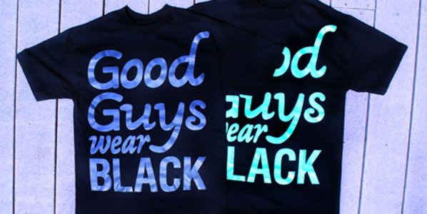 "The Hundreds x Reason Brand ""Good Guys Wear Black"" T-shirt"