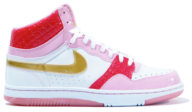 Nike Court Force High (white / metallic gold / cherry) *2008 Valentines...