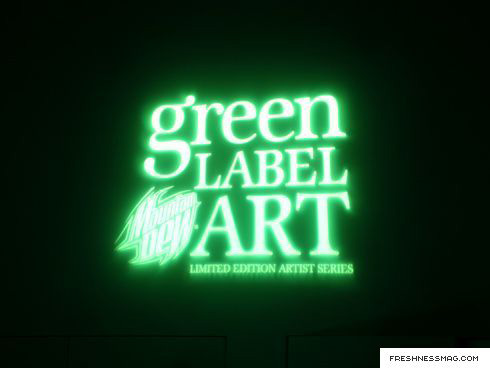 haze x mountain dew green label art party