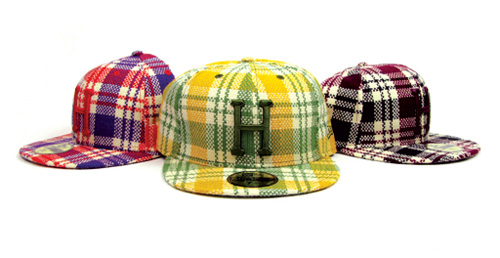 huf 59fifty plaid new era fitted cap