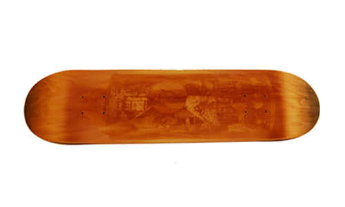 recon red devil laser etched skate deck