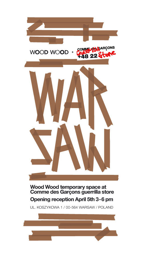 wood wood temporary space comme des garcons guerrilla store